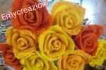 Rose realizzate all'uncinetto vari colori
