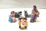 Sacra Famiglia + Tris Re Magi in terracotta cm 10