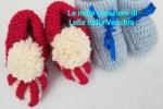 Scarpette bimbi lana