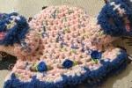 Scarpette e cappellino bambina rosa e blu