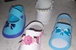 Scarpette in gomma eva liscia o glitter realizzate