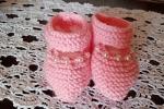 Scarpine neonata, impreziosite da un filo di perle