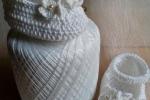 Scarpine neonato uncinetto colore bianco