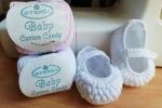 Scarpine per neonata con chiusura