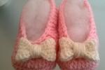 Scarpine uncinetto in lana baby