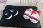 Sandalini e scarpine in cotone e lana