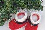 Scarponcini di lana Babbo Natale