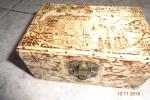 Scatola di legno portagioie, decorati con la tecnica partic