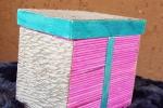 Scatole portagioie con stuzzicadenti colorati