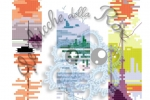 Schema punto croce Tris Segnalibri a tema paesaggistico