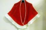 Scialle coprispalle rosso e panna