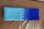 Sciarpa fantasia con disegno azzurro/blu