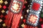 Sciarpa Granny Square multicolor