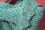 Sciarpa in seta mohair colore verde