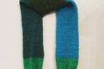 Sciarpa multicolor nei toni del verde azzurro