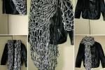 Sciarpa realizzata a mano in lana arm knitting