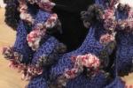 Sciarpa/scalda collo in misto lana, colore blu