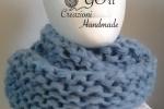 Sciarpa/Scaldacollo in lana mohair colore blu