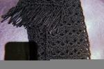 Sciarpa nera lana e uncinetto