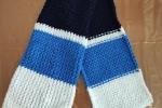 Sciarpa tricolore bianca, blu e azzurra