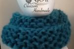 Sciarpe/Scaldacollo in lana mohair colore petrolio