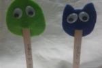Segnalibri con pannolenci a forma di rana e gatto