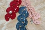 Segnalibro uncinetto con cristalli, perline e angioletti
