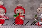 Segnaposto folletti di Natale con tecnica amigrumi
