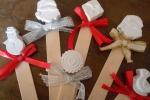 Segnaposto o segnalibro con gessetti di Natale