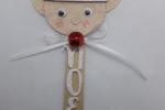 Segnaposto natalizio personalizzato faccina elfo