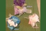 Segnaposto/porta confetti  in morbido pannolenci fantasia
