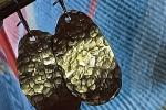 Serie Stone - orecchini in alluminio martellato