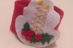 Set 2 portatovaglioli natalizi in soffice pannolenci