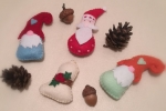 Set 4 addobbi natalizi per decorare i vostri pacchi dono