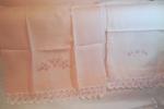 Set asciugamani Grande + ospite in puro lino rosa.