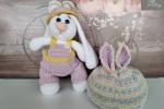 Set coniglietto amigurumi+cappellino