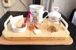 Set da tisana/colazione in legno lavabile