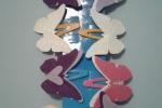 Set di 2 fermagli per capelli con decorazione in feltro