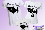 Set 3 Magliette Famiglia, Baby Shark