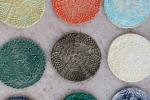 Sottobicchieri in gesso ceramica decorate
