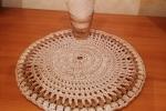 Sottopiatto con lavorazione in rilievo realizzato a crochet