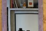 Specchio 63x63cm pezzo unico realizzato a mano color lilla.
