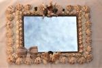 Specchio Shabby costruito a mano su base legno robusto