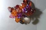 Anello con fiori pendenti swaroski