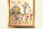 Stampa d'arte lavorata a mano con oro bulinato: Mandragora