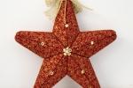 Stella natalizia rossa patchwork