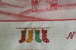 Strofinaccio natalizio in lurex  ricamato con scritta Buon Natale