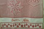 Strofinaccio di cotone con soggetto natalizio e ricamo scritta Buon Natale