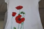 T-shirt donna dipinta a mano
