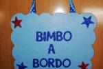 """Targhette auto """"Bimbo/a a bordo"""" in gomma crepla glitterata"""